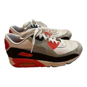 Nike Womens Air Max 90 GS Infrared Running Shoes 7